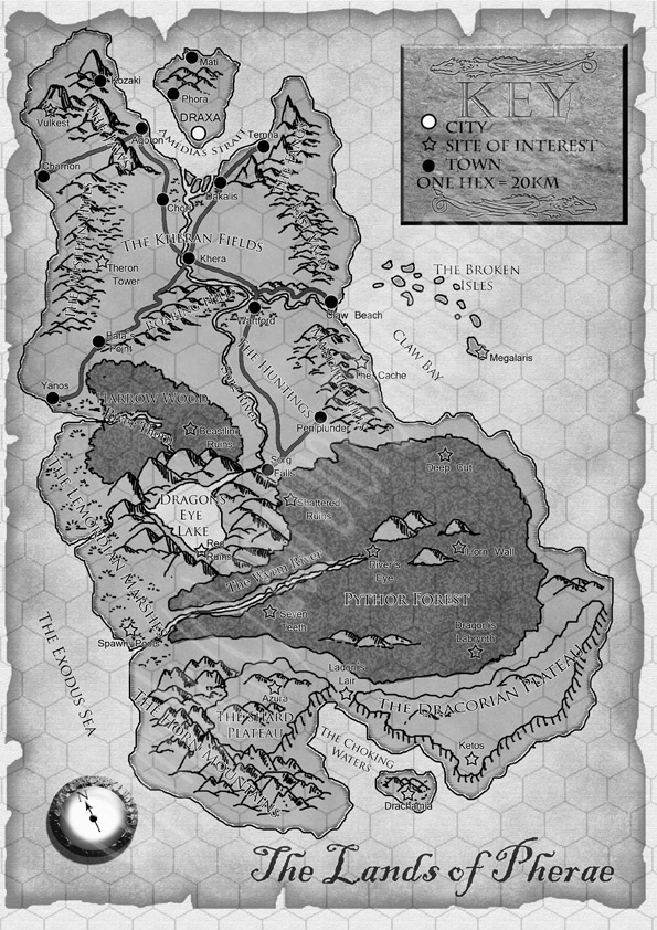 Map of Pherae Island by Simon Bray