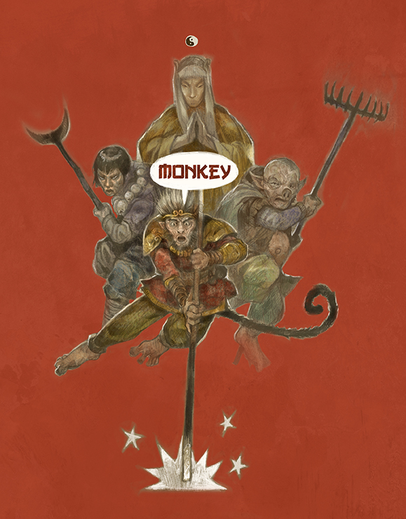 Monkey the Roleplaying Game -Hardcover + Pdf -PRE-ORDER
