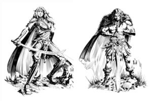 Fighter and Barbarian
