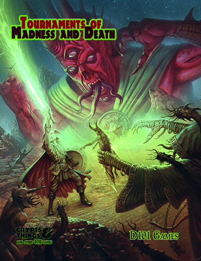 Tournaments of Madness and Death, cover by David M. Wright