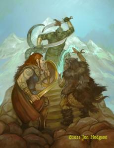 The Saga of the Savage North cover by Jon Hodgson