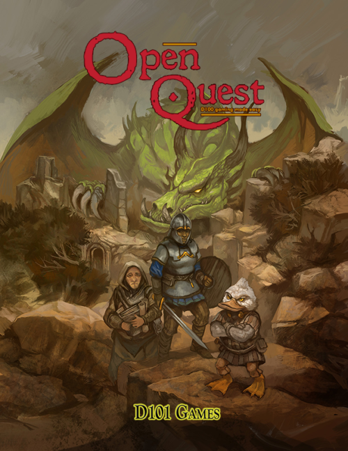 OpenQuest 3rd Edition Cover by Jon Hodgson